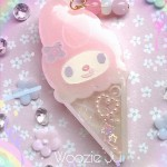 My Melody Ice Cream Liquid Shaker Charm - B-Grade