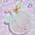 Pastel Purple, Pink & Green Resin Peach Liquid Shaker Planner Charm/Key Chain