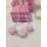 Pink Macaroon x3 Necklace