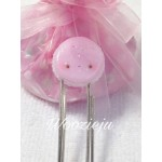 Handmade Polymer Clay Pink Macaroon Paperclip