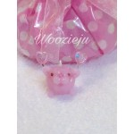 Rose Pink Bubble Angel Charm