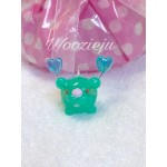 Pastel Jade Green Bubble Angel Charm