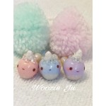 Glittery Narwhal Charm with Colour Changing Horn! - Baby Blue