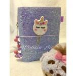 Woozie Ju Sparkle Faux-Dori A6 TN Traveller's Notebook - Lilac Glitter
