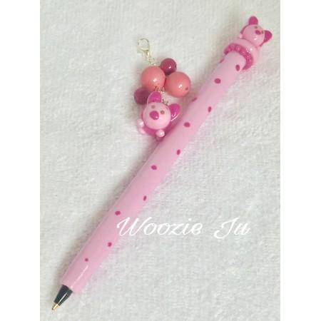 Handmade Piglet Tsum Tsum  Refillable Pen