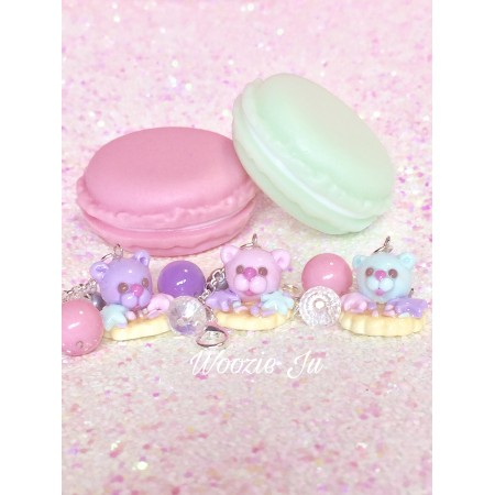 Bubble Cookie Planner/Key Charm - Blue