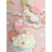 Pastel Pink Narwhal Key Chain/Planner Charm