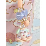 Pastel Blue Garden Bubble Key Chain/Planner Charm