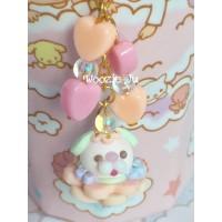 Pastel Pink Garden Bubble Key Chain/Planner Charm