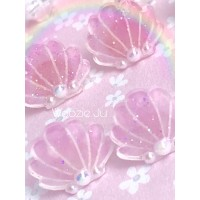 Magical Sea Shell Pastel Resin Coated Earrings