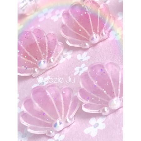 Magical Sea Shell Pastel Resin Coated Earrings