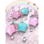 Holographic Pin & Blue Stars Charm