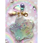 Pastel Sprinkles Rainbow Resin Star Liquid Shaker Charm