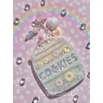 Pastel Pink & Blue Resin Cookie Jar Shaker Charm