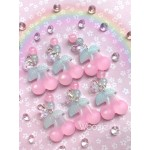 Cherries! Matte Resin Charms with Unicorn Effect & Holographic Hearts