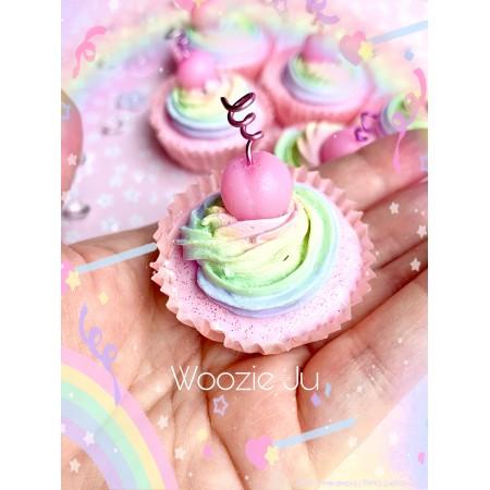 Pastel Rainbow Painted Cupcakes