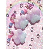 Pastel Paw Resin Planner Charm/Key Chain