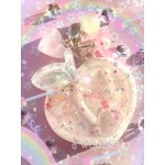 Pastel White, Pink & Green Little Twin Stars Resin Peach Liquid Shaker Charm