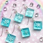 Holographic Snowflake Earrings