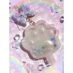 Pastel Paw Rainbow Resin Shaker Charm