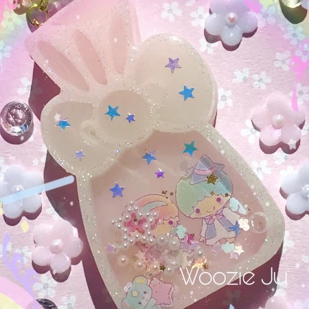 Little Twin Stars Candy Bag Resin Shaker Charm