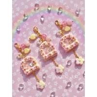 Pastel Sakura Fairy Door Shaker Key Chain/Planner Charm