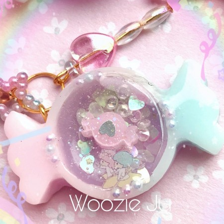 Little Twin Stars Mini Candy Resin Shaker Charm