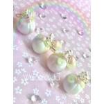 Halloween Rainbow Pastel Pumpkin Clay Key/Planner Charm