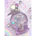 Little Twin Stars Moon Snow Globe Resin Shaker Charm