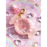Sakura Themed Mini Candy Resin Shaker Charm