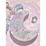 Dreamy Cinnamoroll Resin Moon Shaker Planner Charm/Key Chain