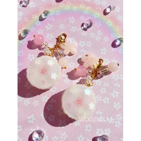 Pastel Iridescent Resin Sakura Macaroon Charms