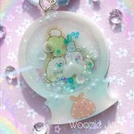 Sumikko Gurashi Resin Snow Globe Shaker Planner Charm/Key Chain