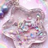 Pastel Sprinkles Clear Resin Star Liquid Shaker Charm