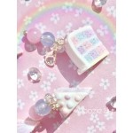 Pastel Chequerboard Iced Cake Slice Planner Charm/Key Chain