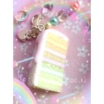 Rainbow Pastel Iced Cake Planner Charm/Key Chain