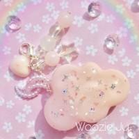 Pastel Pink & Peach Resin Cloud Planner Charm/Key Chain