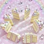 Pastel Swirl Iced Cake Slice Planner Charm/Key Chain