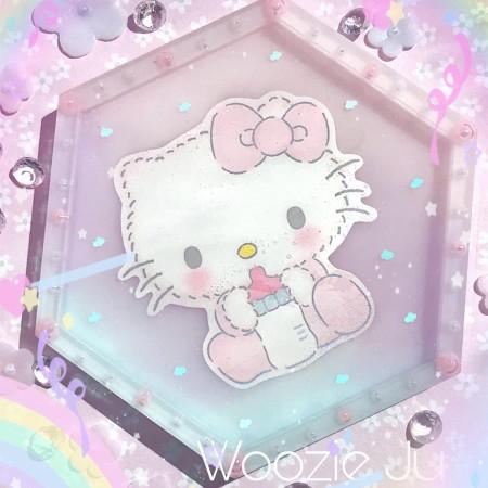 Hello Kitty Pastel Hexagon Trinket Tray - B-Grade