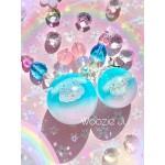 Cinnamoroll Sphere/Ball Tri-Colour Resin Charm - LARGE