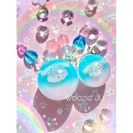 Cinnamoroll Sphere/Ball Tri-Colour Resin Charm - SMALL