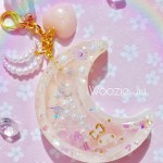 Dreamy My Melody Resin Moon Shaker Planner Charm/Key Chain
