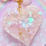 Dreamy My Melody Resin Heart Shaker Planner Charm/Key Chain