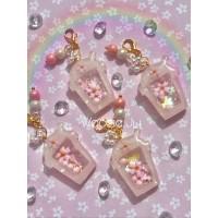 Pastel Sakura Drink Shaker Key Chain/Planner Charm