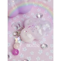 Pastel Pink & Purple Resin Cloud Planner Charm/Key Chain