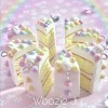 Pastel Swirl Iced Cake Slice Planner Charm/Key Chain