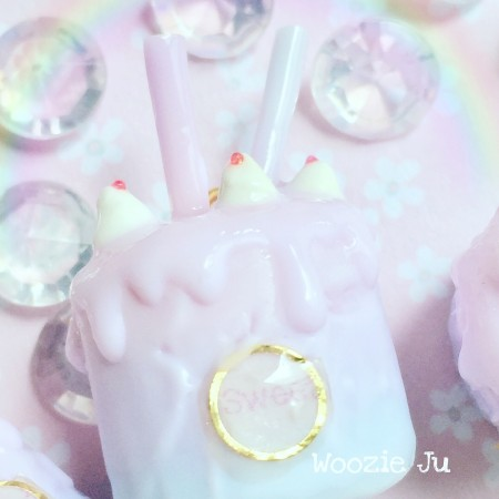 """Sweet Love"" Range - Tri-Pastel Iced Cake Pendant Necklace"
