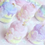 """Sweet Love"" Range - Purple Pastel Iced Cake Planner Charm/Key Chain"