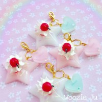 Pastel Star Resin Dessert Charms