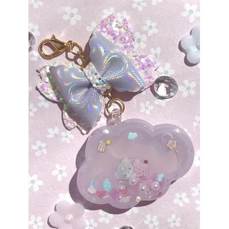 Little Twin Stars Blue Bear Mini Cloud Resin Shaker Charm